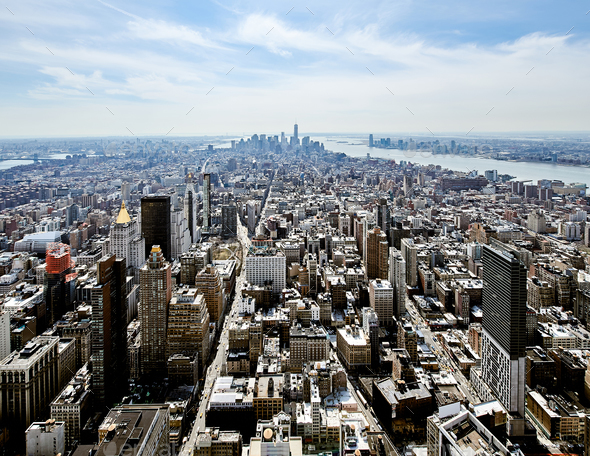 Cityscape view of Manhattan - Stock Photo - Images