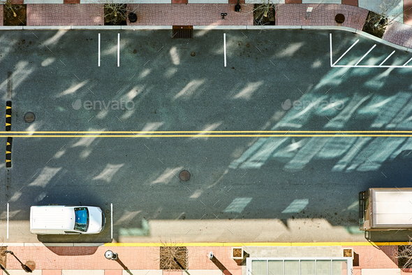 Street road view from above - Stock Photo - Images
