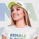 Female T-Shirt and Baseball Cap Mockup Vol3. Part 1