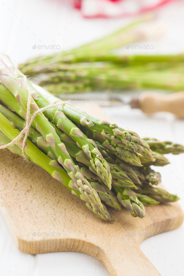 Fresh green asparagus. - Stock Photo - Images