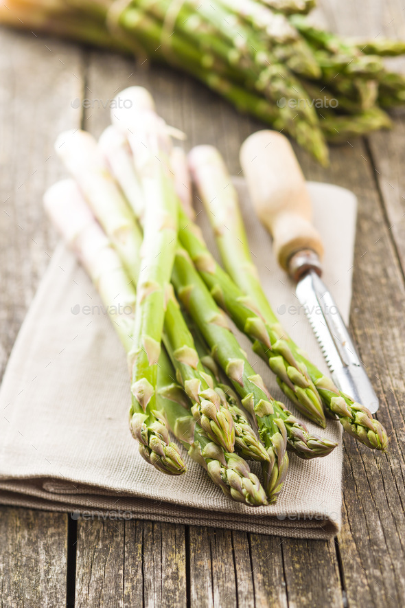 Fresh green asparagus - Stock Photo - Images