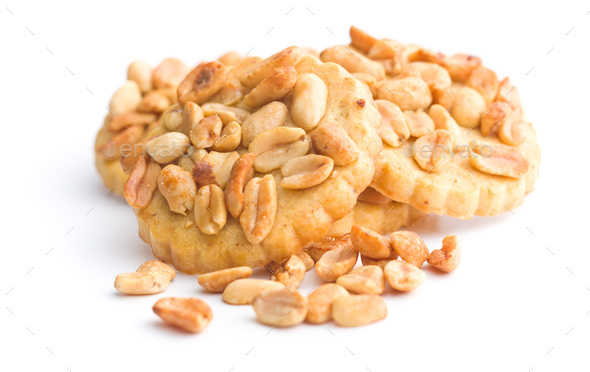 Sweet cookies with peanuts. - Stock Photo - Images
