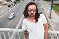 Beautiful man portrait wearing stylish sunglasses - PhotoDune Item for Sale