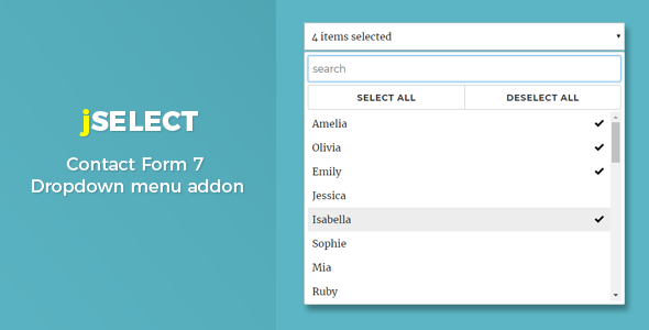 Contact Form 7 – jSelect dropdown menu - CodeCanyon Item for Sale