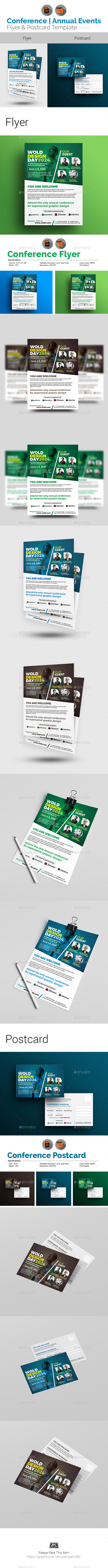 Conference Flyer with Postcard Bundle - Events Flyers