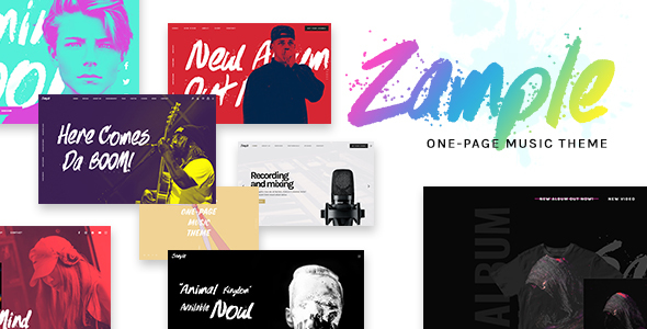 Image of Zample - A Fresh One-Page Music WordPress Theme