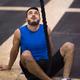 man relaxing before rope climbing - PhotoDune Item for Sale