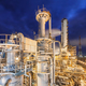 Chemical plant on night time. - PhotoDune Item for Sale