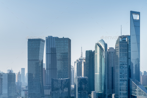 modern architecture in shanghai - Stock Photo - Images