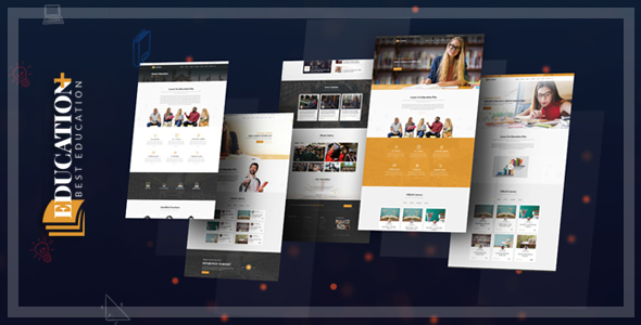 Education Plus - Education, Academy, Courses & Training HTML Template - Corporate Site Templates