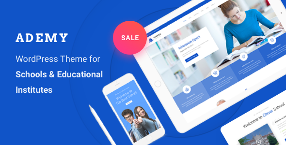 Ademy - WordPress Theme for Schools & Educational Institutes - Education WordPress