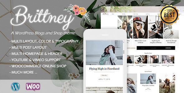 Image of Brittney - A Responsive WordPress Blog and Shop Theme