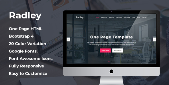 Radley – One Page HTML Template