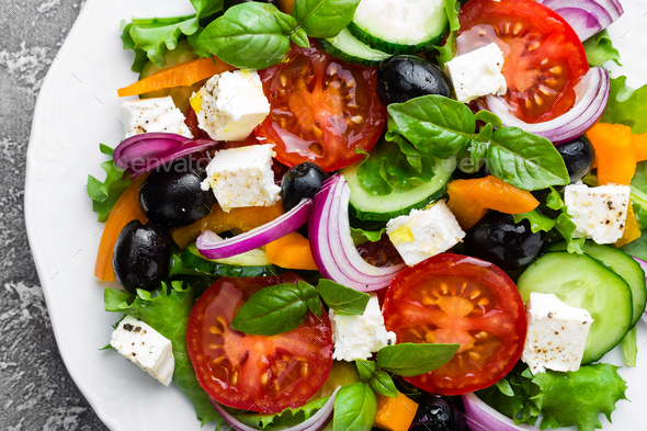 Greek salad - Stock Photo - Images