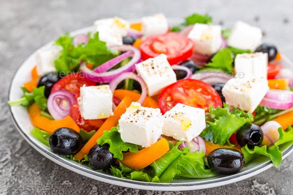 Greek salad - Stock Photo - Images