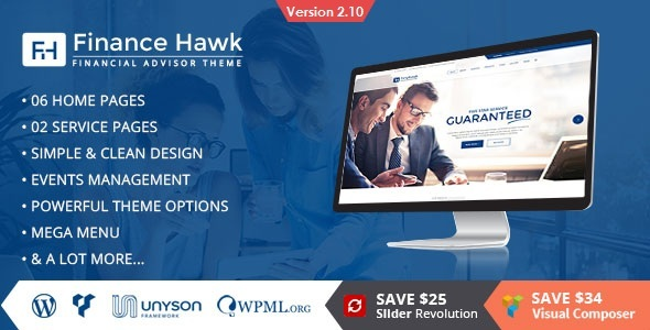 Finance Hawk - Finance and Consulting Business WordPress Theme - Business Corporate