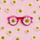 pink sunglasses with daisies - PhotoDune Item for Sale
