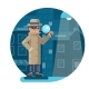 Magnifying Glass Mask Spy Detective Cartoon