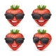 Sunglasses Realistic Fruit Design Strawberry - GraphicRiver Item for Sale