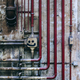 Old industrial wall of pipes and obsolete parts - PhotoDune Item for Sale