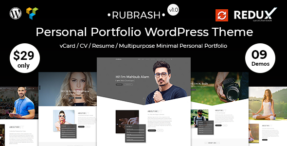 Image of Rubrash - Personal Portfolio WordPress Theme