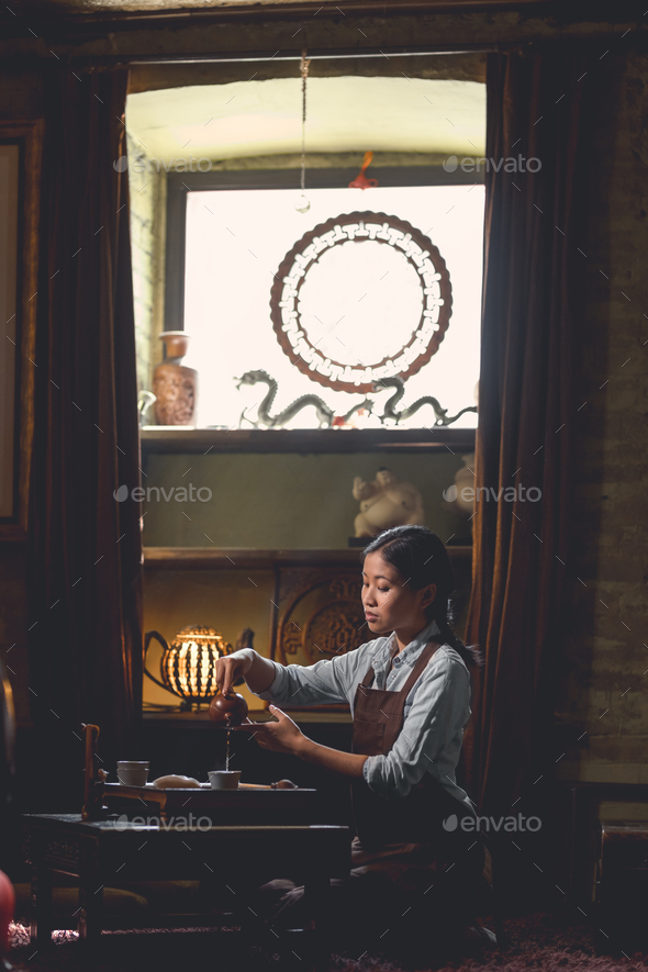 Young asian girl at a ceremony - Stock Photo - Images