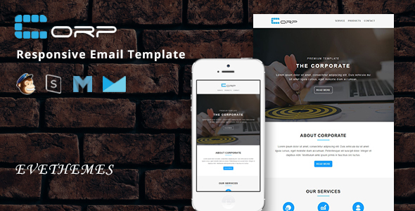 corp - responsive email template (newsletters) Corp – Responsive Email Template (Newsletters) 01 preview