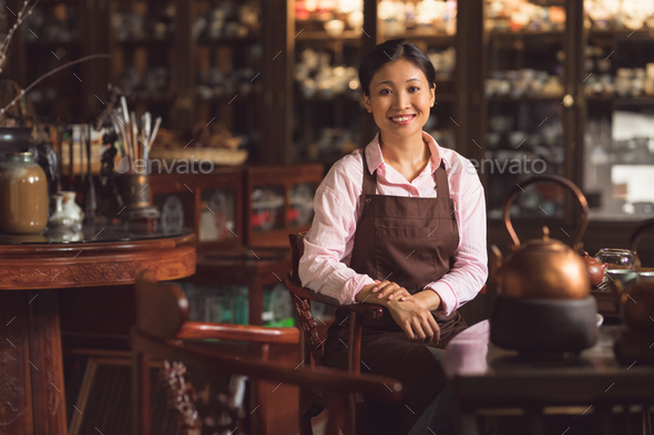 Smiling asian girl - Stock Photo - Images