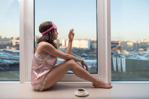 Young girl in pajamas - Stock Photo - Images