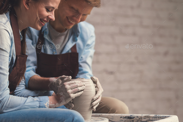 Young couple at artwork - Stock Photo - Images