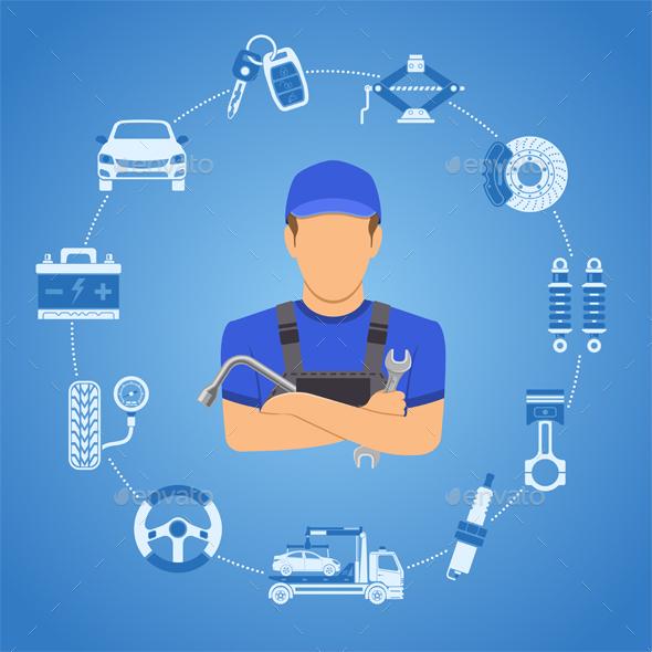 Car Services Concept - Services Commercial / Shopping