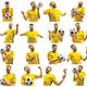 Brazilian fan celebrating on white background - PhotoDune Item for Sale