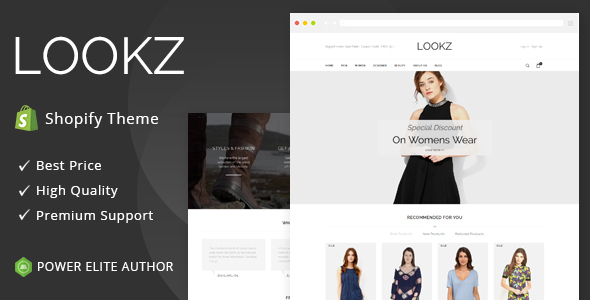 Lookz – Sectioned Multipurpose Shopify Theme