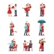 Flat Vector Set of Romantic Couples - GraphicRiver Item for Sale