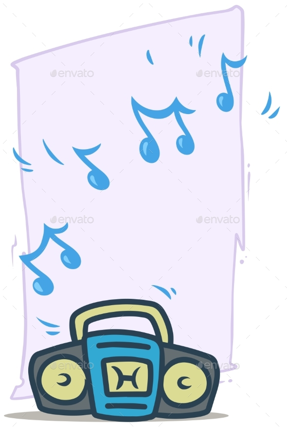 Cartoon Blue Working Tape Recorder Vector Icon - Man-made Objects Objects