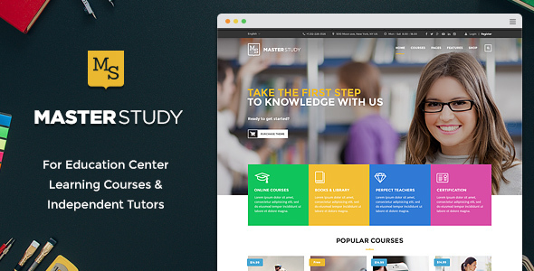 Masterstudy - Education WordPress Theme for Learning, Training and Education Center - Education WordPress