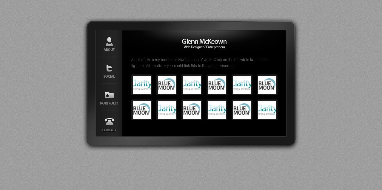 Plasma Card - A Virtual Business Card by GlennMcKeown | ThemeForest