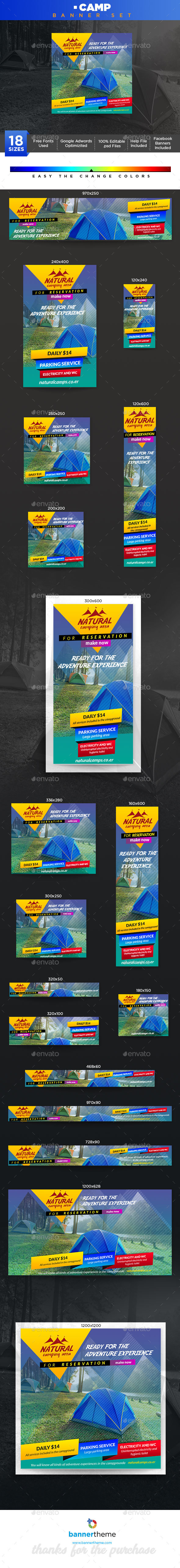 Camp Banner - Banners & Ads Web Elements