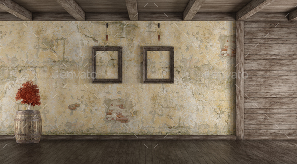Empty grunge interior - Stock Photo - Images