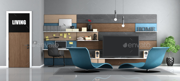 Modern living room - Stock Photo - Images