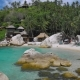 Blue Bay with Granite Stones and Palm Trees on Luxury Exotic Beach in Tropical Island, Koh Tao - VideoHive Item for Sale