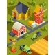 Isometric Landscape of Village or Farm