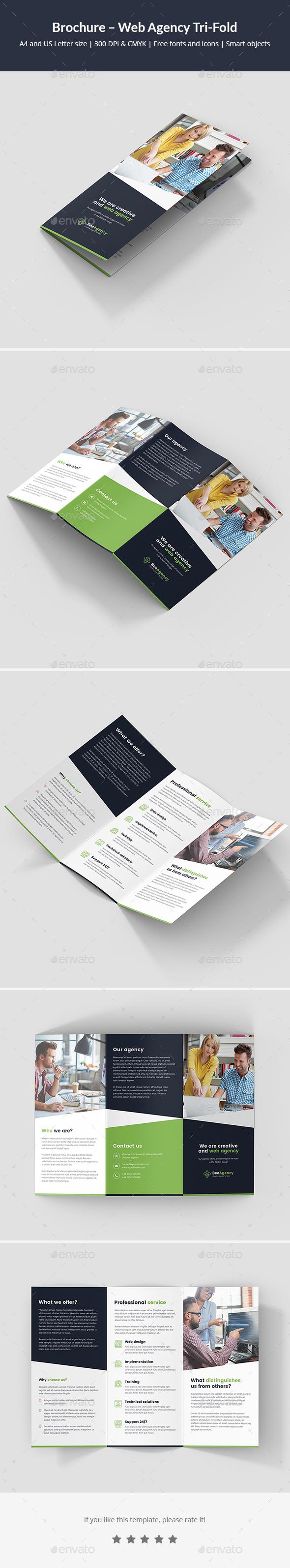 Brochure – Web Agency Tri-Fold - Corporate Brochures