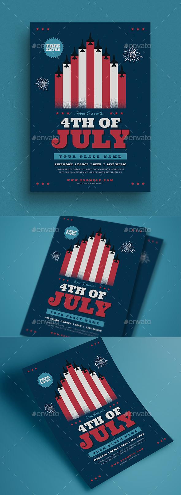 4th Of July Celebration Flyer - Events Flyers