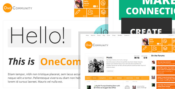 OneCommunity - BuddyPress Community e-Learning LMS Theme - BuddyPress WordPress
