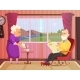 Vector Background Illustrations of Elderly Couple