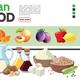 Cartoon Vegetarian Food Elements Collection