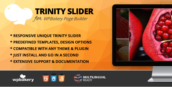Trinity Slider Addon for WPBakery Page Builder (formerly Visual Composer) - CodeCanyon Item for Sale