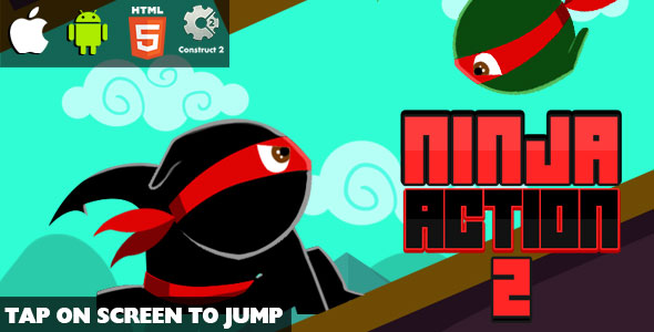 Ninja Action 2 - HTML5 Game (CAPX) - CodeCanyon Item for Sale