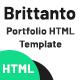 Brittanto - Personal Portfolio HTML5 Template - ThemeForest Item for Sale